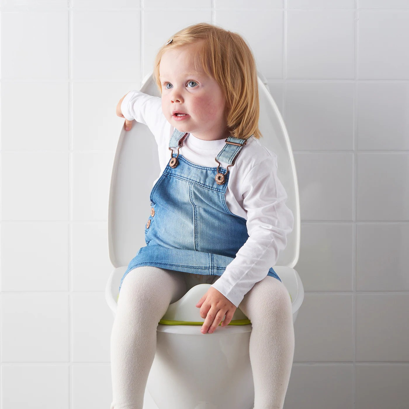 Tossig Toiletsaede Hvid Gron Ikea