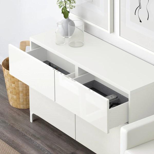 bestÅ storage combination w doors/drawers - white