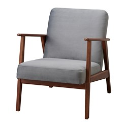 ikea chairs living room chair covers northampton armchairs ekenaset armchair the legs are made of solid wood which is a durable