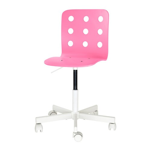ikea pink desk chair covers hire dublin jules children s white you sit comfortably since the is adjustable in height
