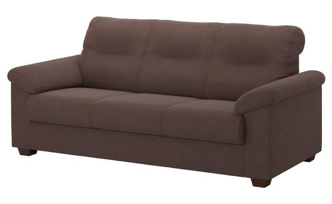 Knislinge Three Seat Sofa Samsta Dark Brown Ikea