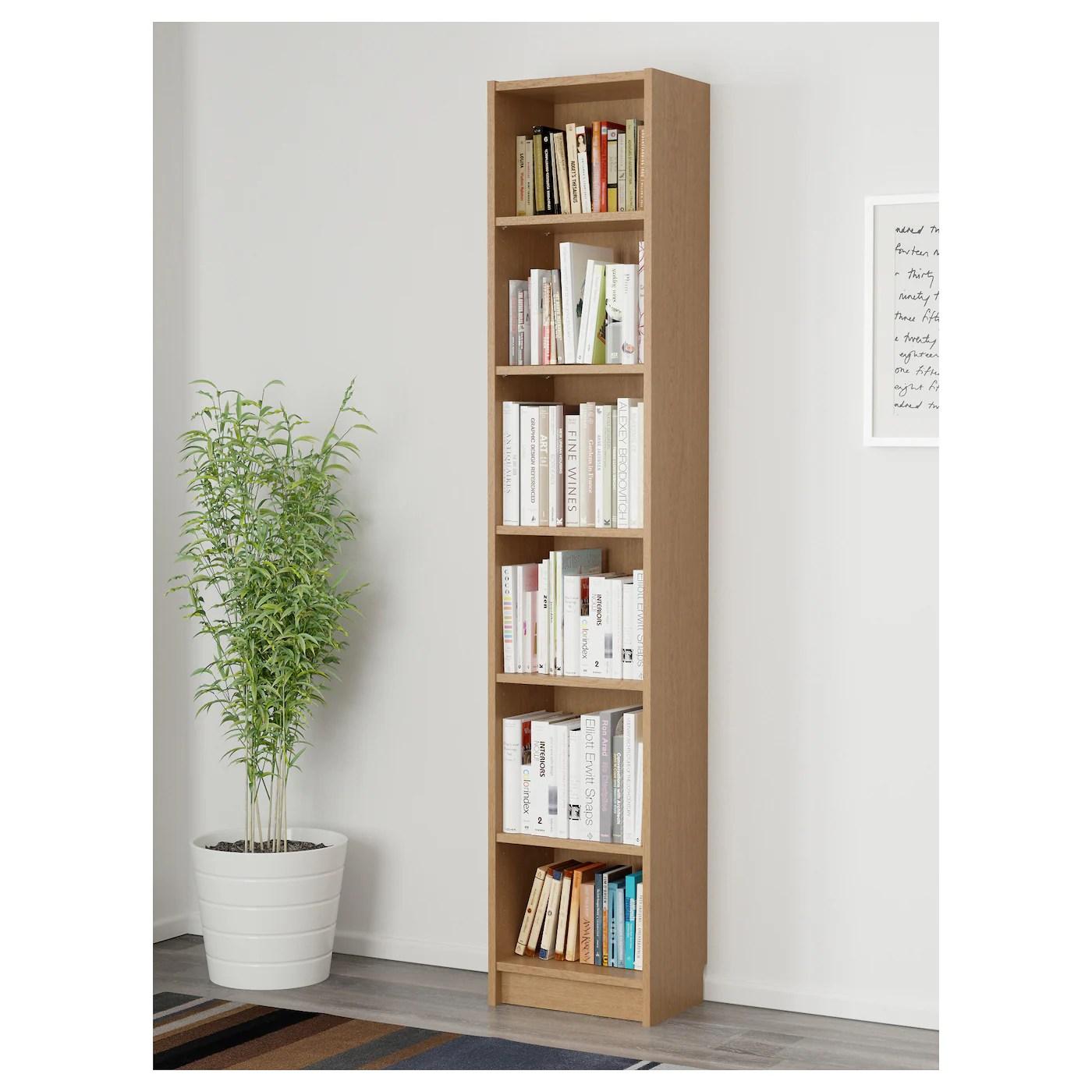 BILLY Librería, chapa roble, 40x28x202 cm   IKEA