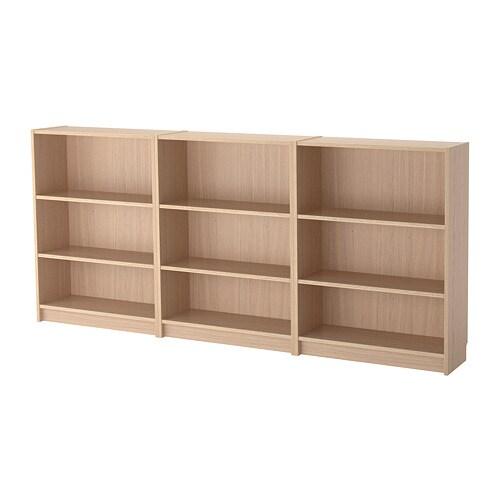 BILLY Librera  chapa roble tinte blanco  IKEA