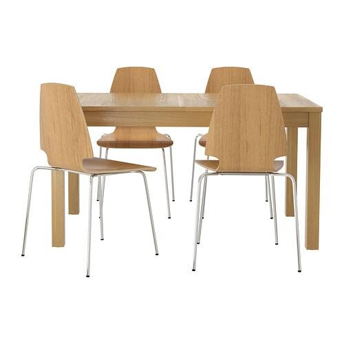 BJURSTA  VILMAR Mesa con 4 sillas  IKEA