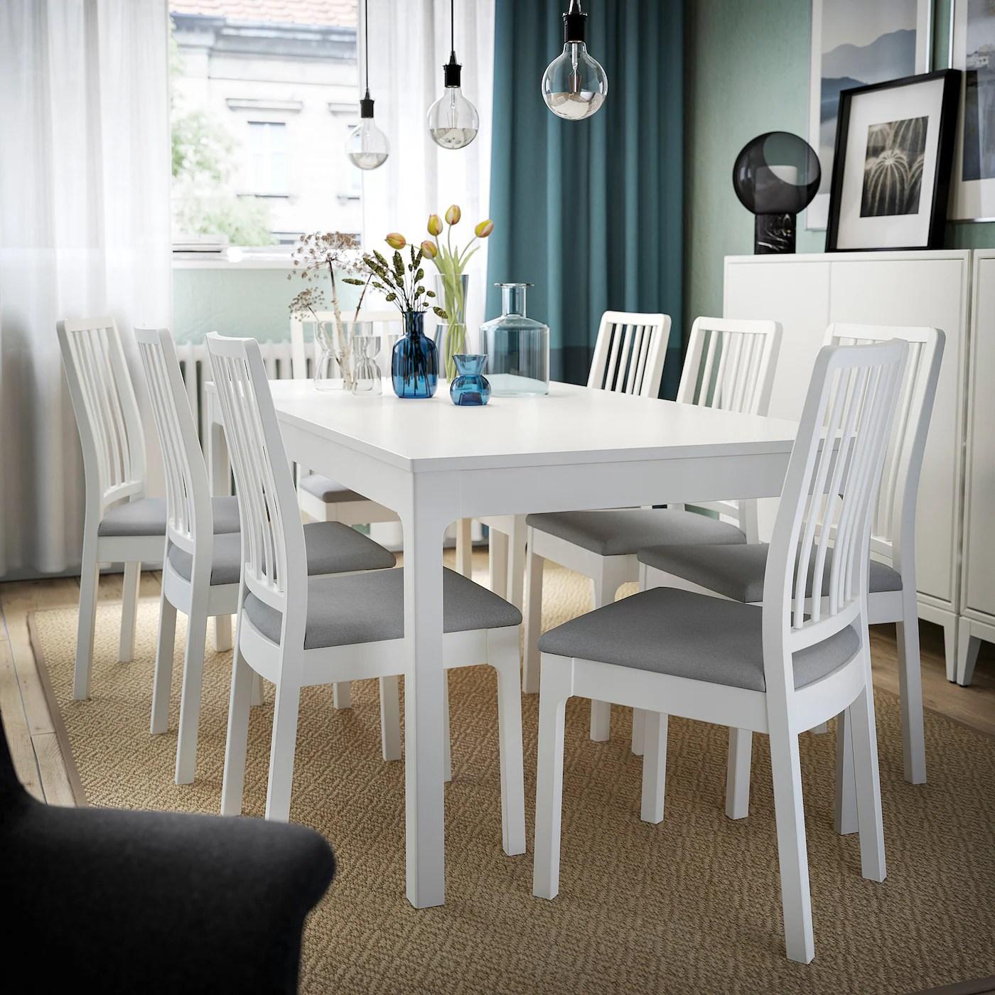 ekedalen mesa extensible blanco 120 180x80 cm