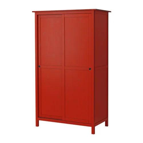 HEMNES Armario2 puertas correderas  rojo  IKEA