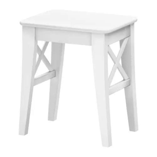 ikea ingolf chair flat pads taburete blanco -