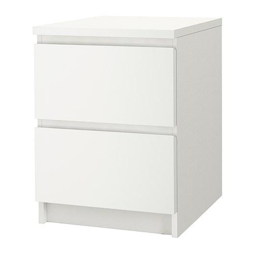 MALM Cómoda de 2 cajones IKEA También puede usarse de mesilla de noche. Cajones muy amplios. Más espacio para guardar tus cosas.