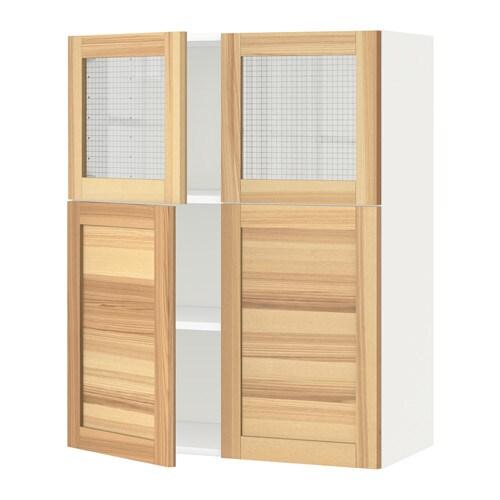 METOD Armario de pared baldas y puertas  Torhamn natural fresno  IKEA