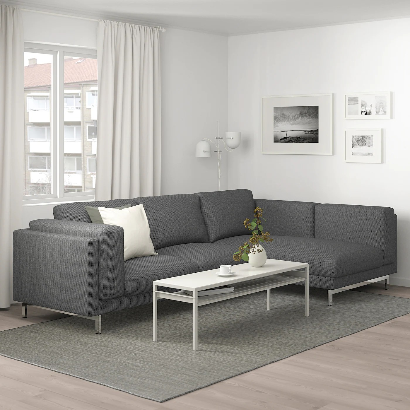 Replace your old färlöv 3 seat sofa covers with our custom made covers which include: NOCKEBY Sofá 3 plazas - con chaiselongue dcha, Lejde gris ...