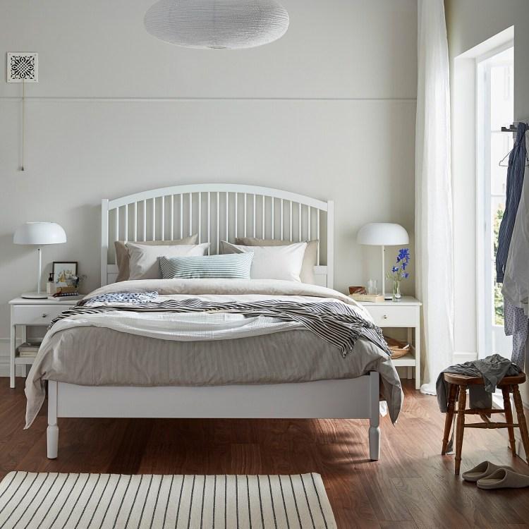 TYSSEDAL - Estructura cama, blanco/Lönset160x200 cm 371€ de Ikea