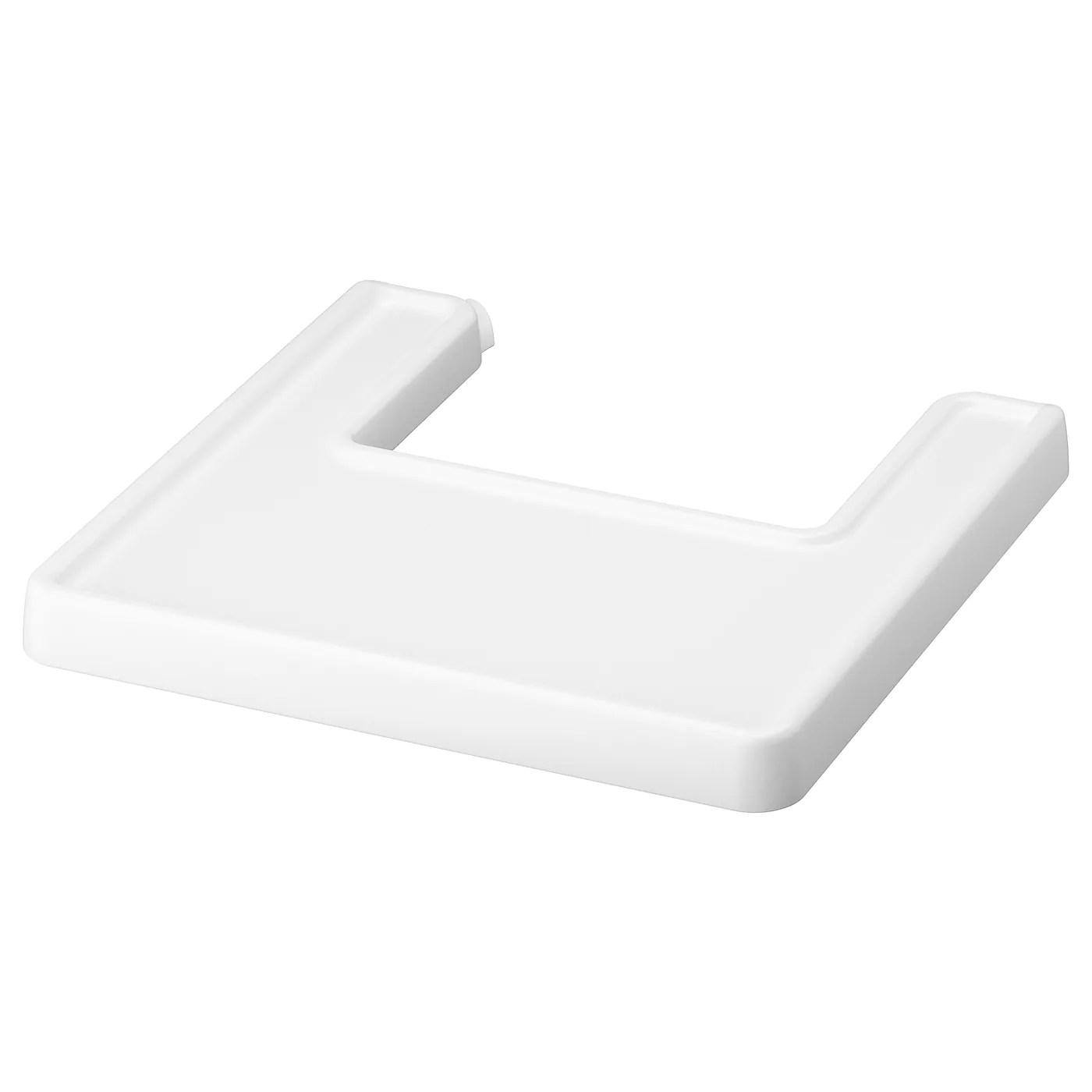 antilop tablette pour chaise haute blanc