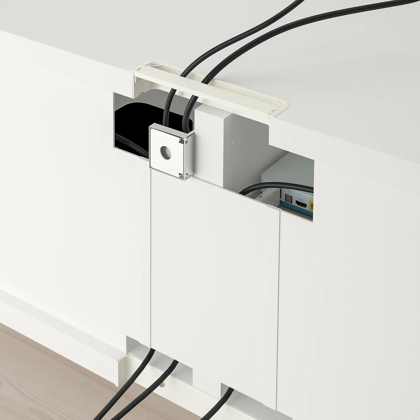 besta banc tv blanc 120x40x38 cm
