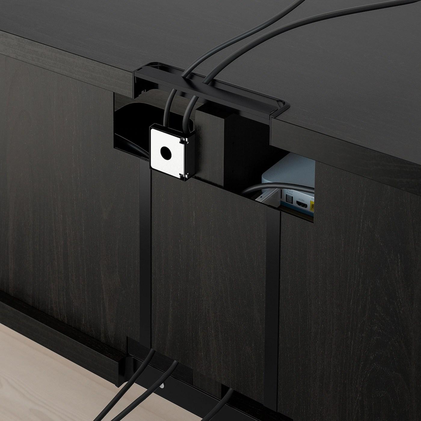 besta banc tv brun noir 120x40x38 cm