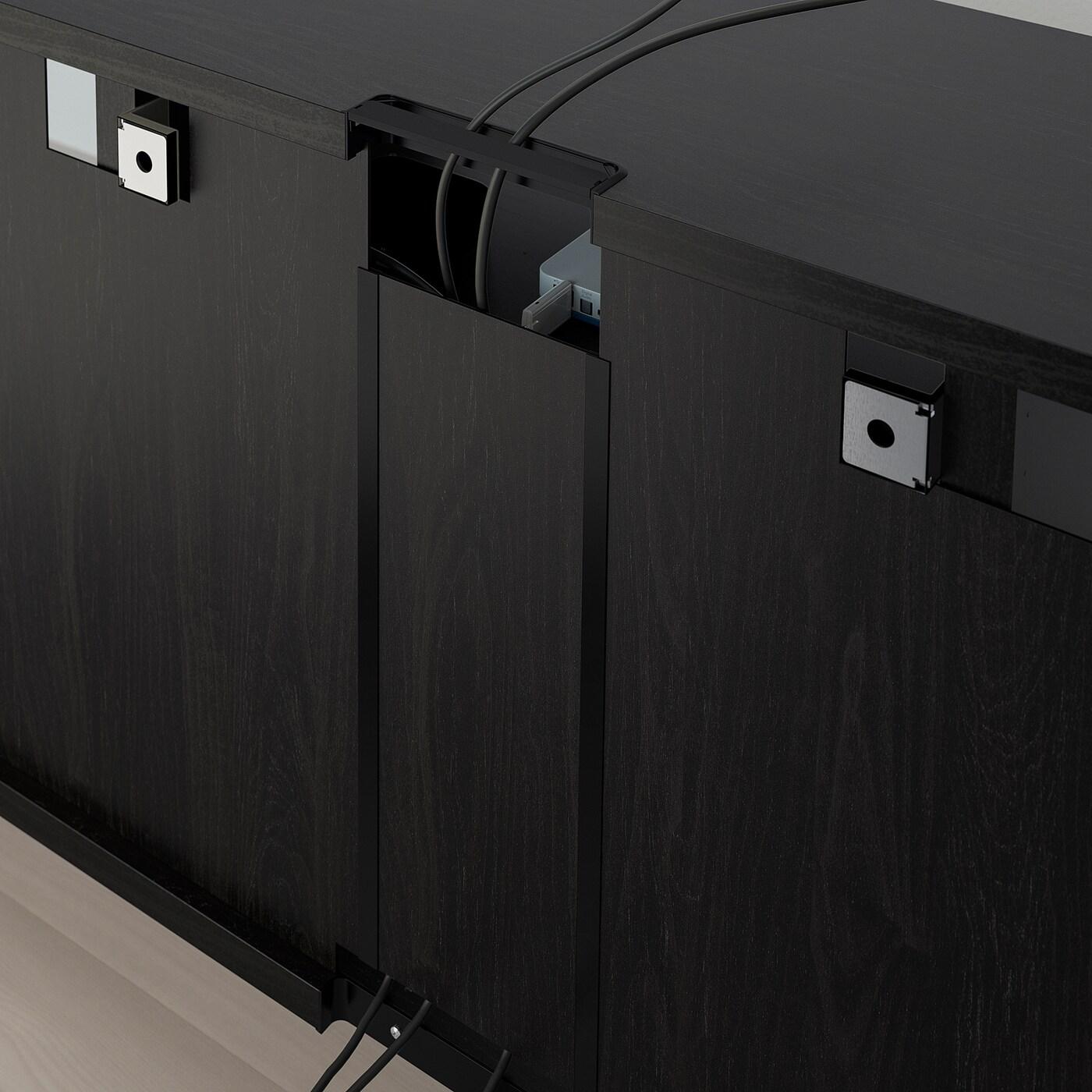 besta banc tv brun noir 180x40x64 cm