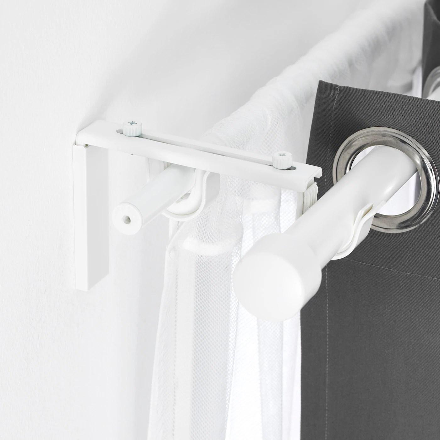 betydlig support de tringle a rideau blanc