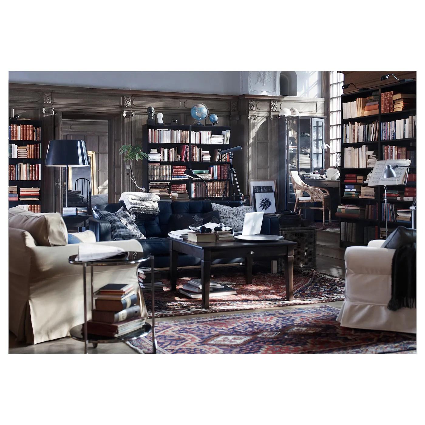 billy bibliotheque brun noir 80x28x202 cm