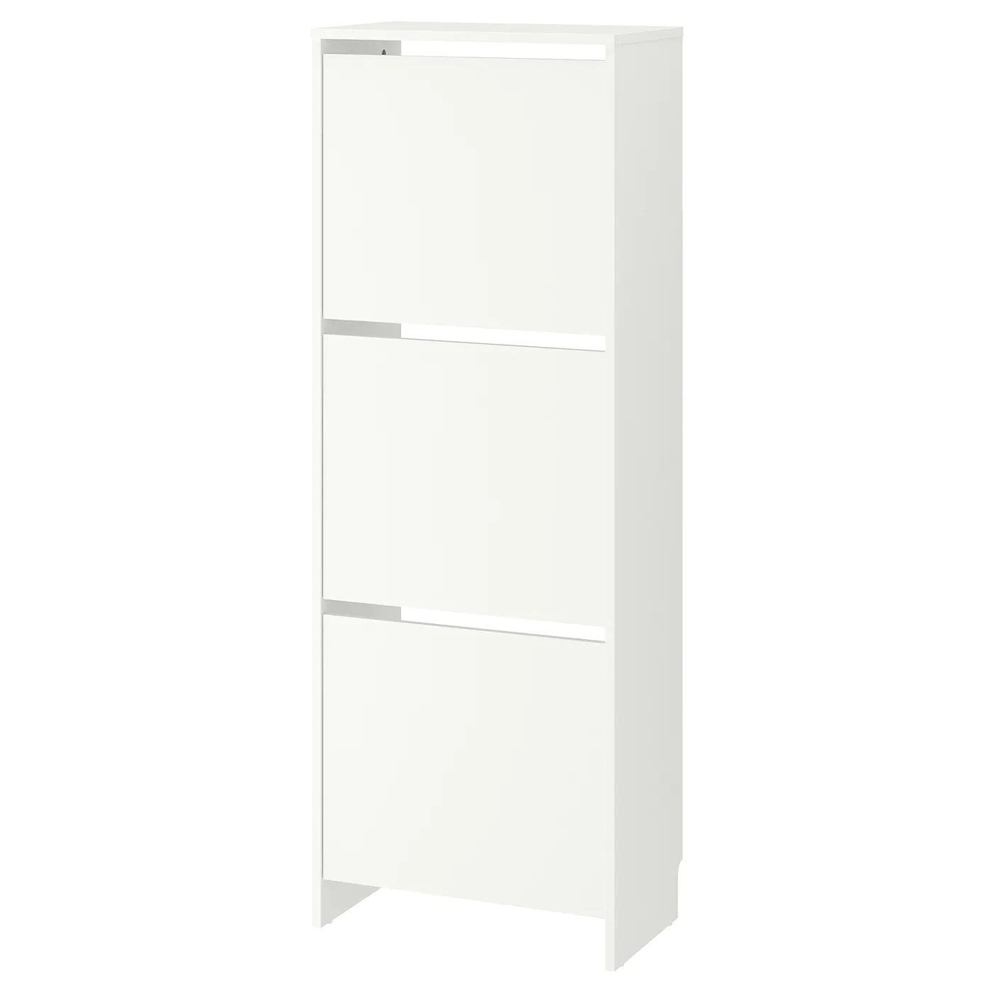 bissa armoire a chaussures 3 casiers blanc 49x135 cm