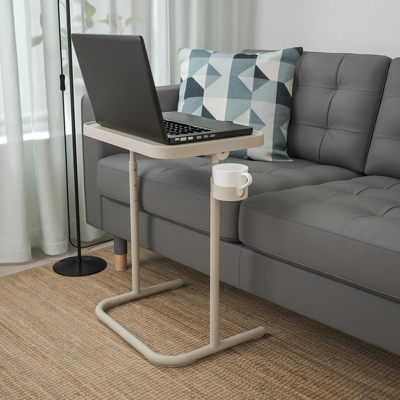 bjorkasen table pour ordinateur portable beige
