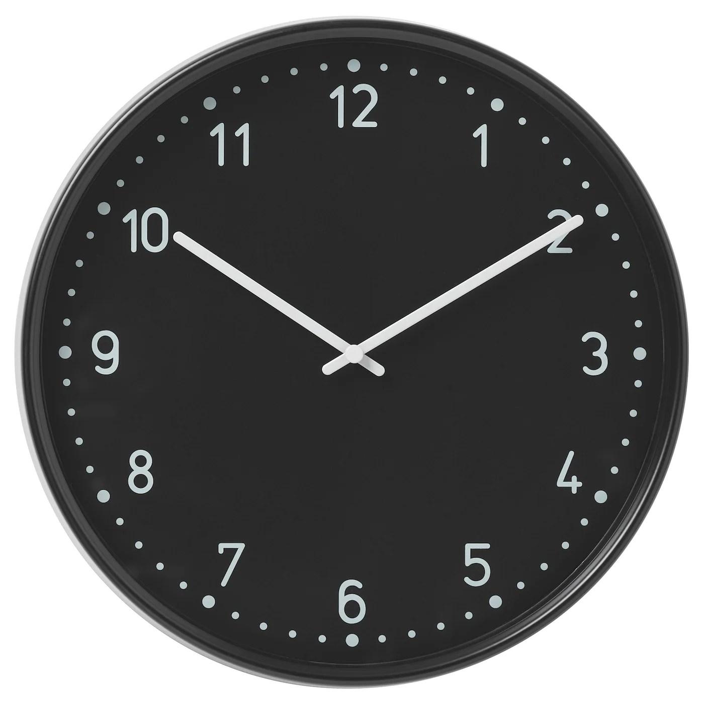 Bondis Horloge Murale Noir Ikea