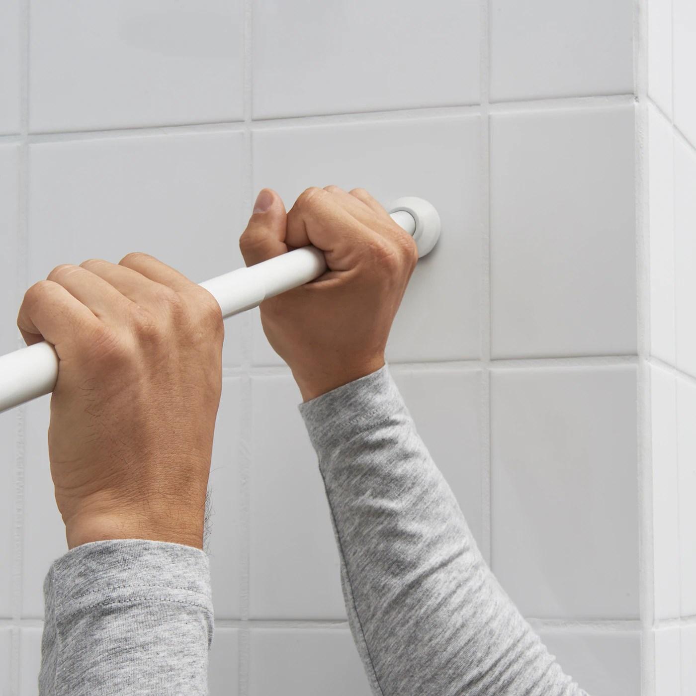 botaren tringle a rideau de douche blanc 120 200 cm