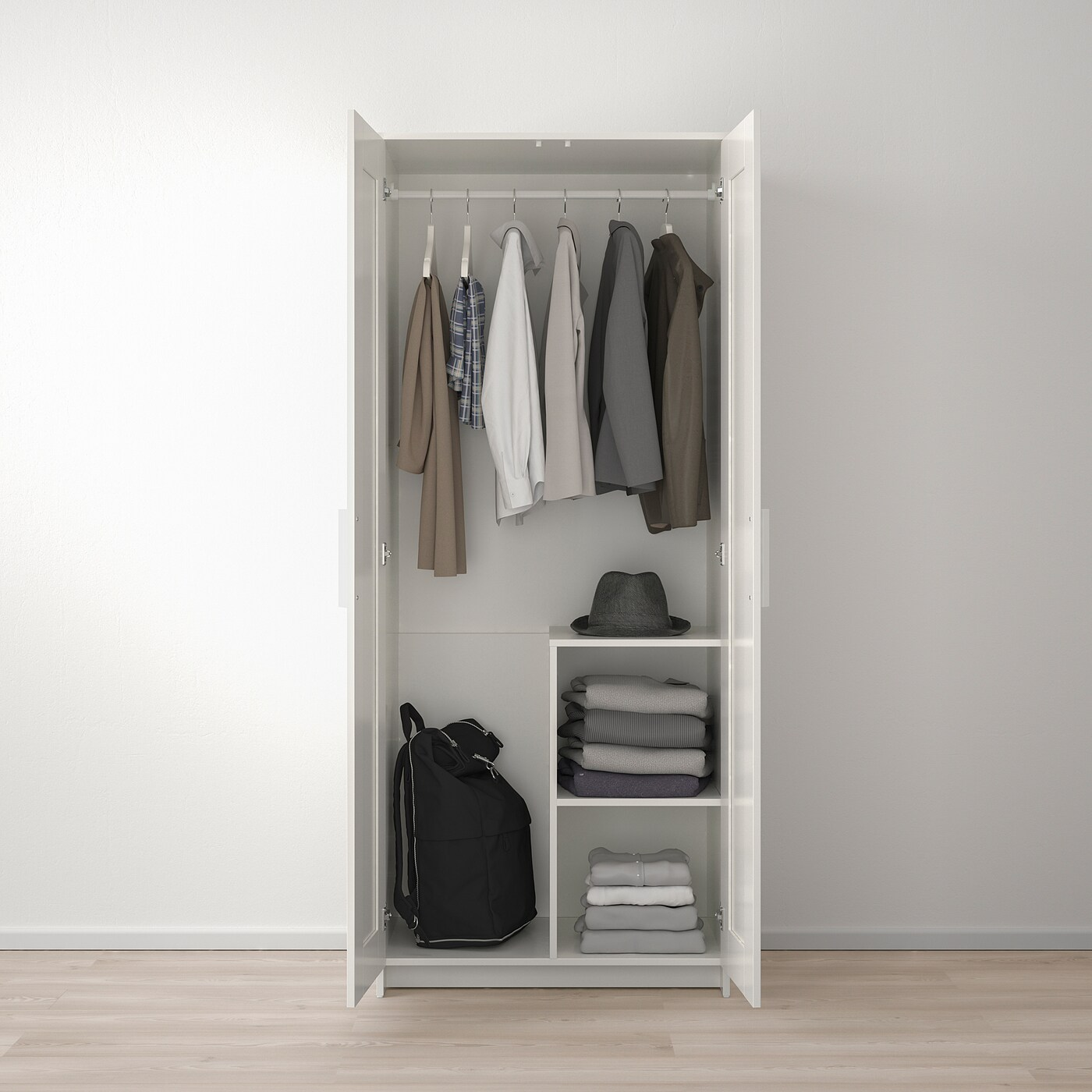 Brimnes Armoire 2 Portes Blanc 78x190 Cm Ikea