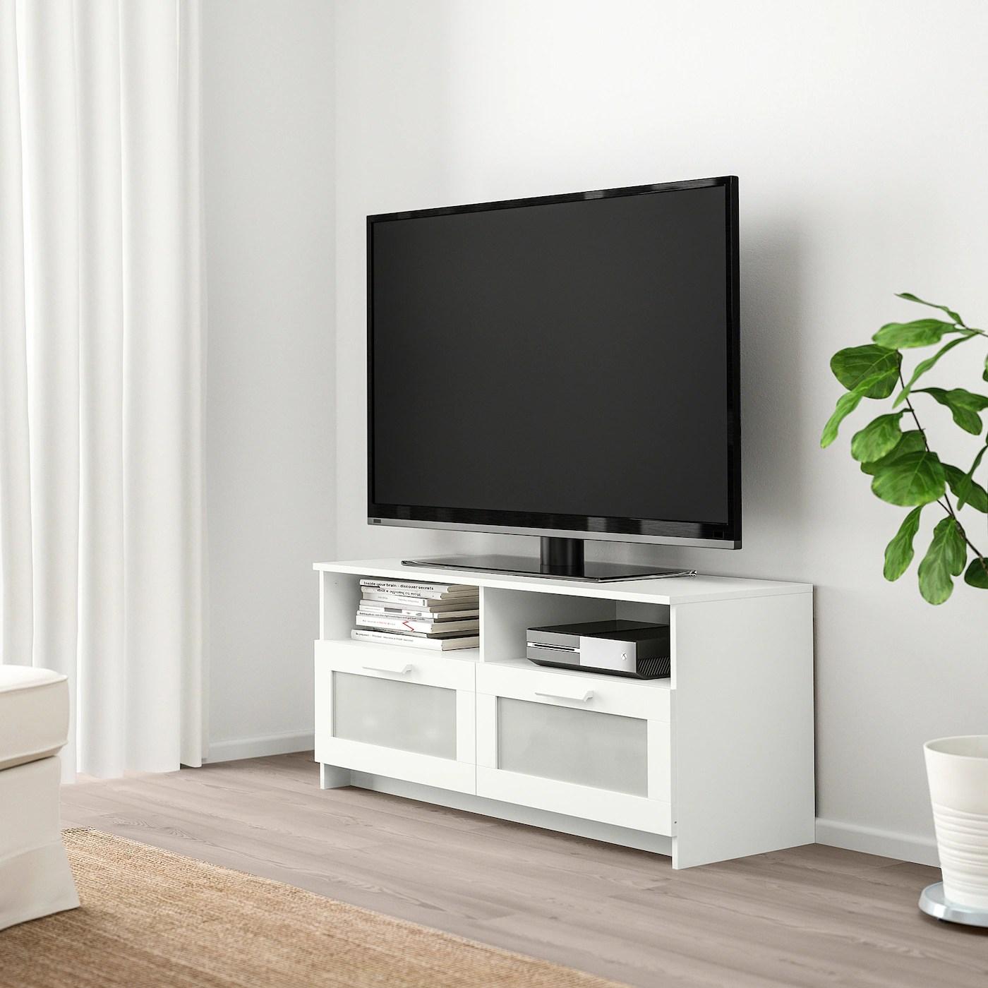 brimnes banc tv blanc 120x41x53 cm