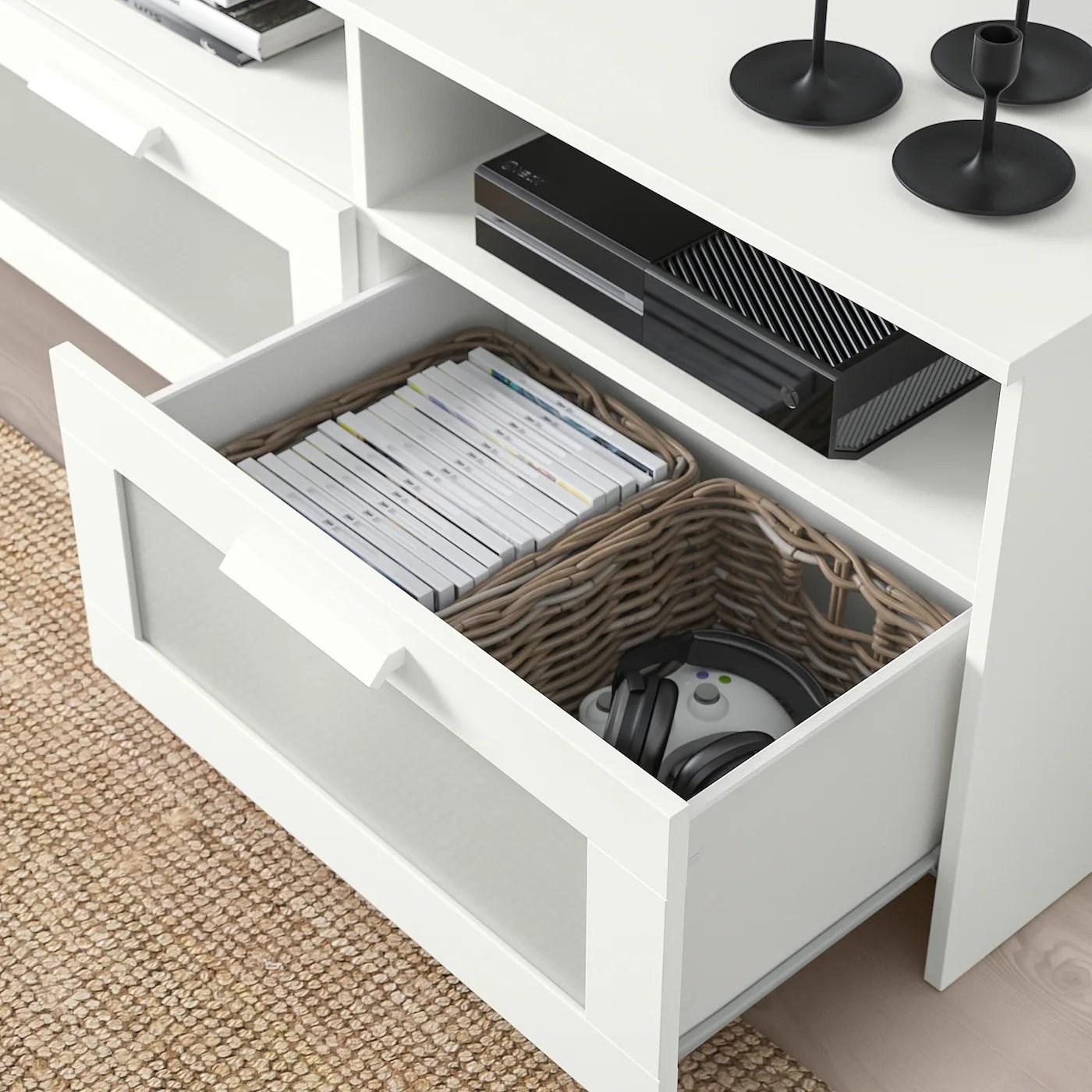 brimnes combinaison meuble tv blanc 258x41x190 cm