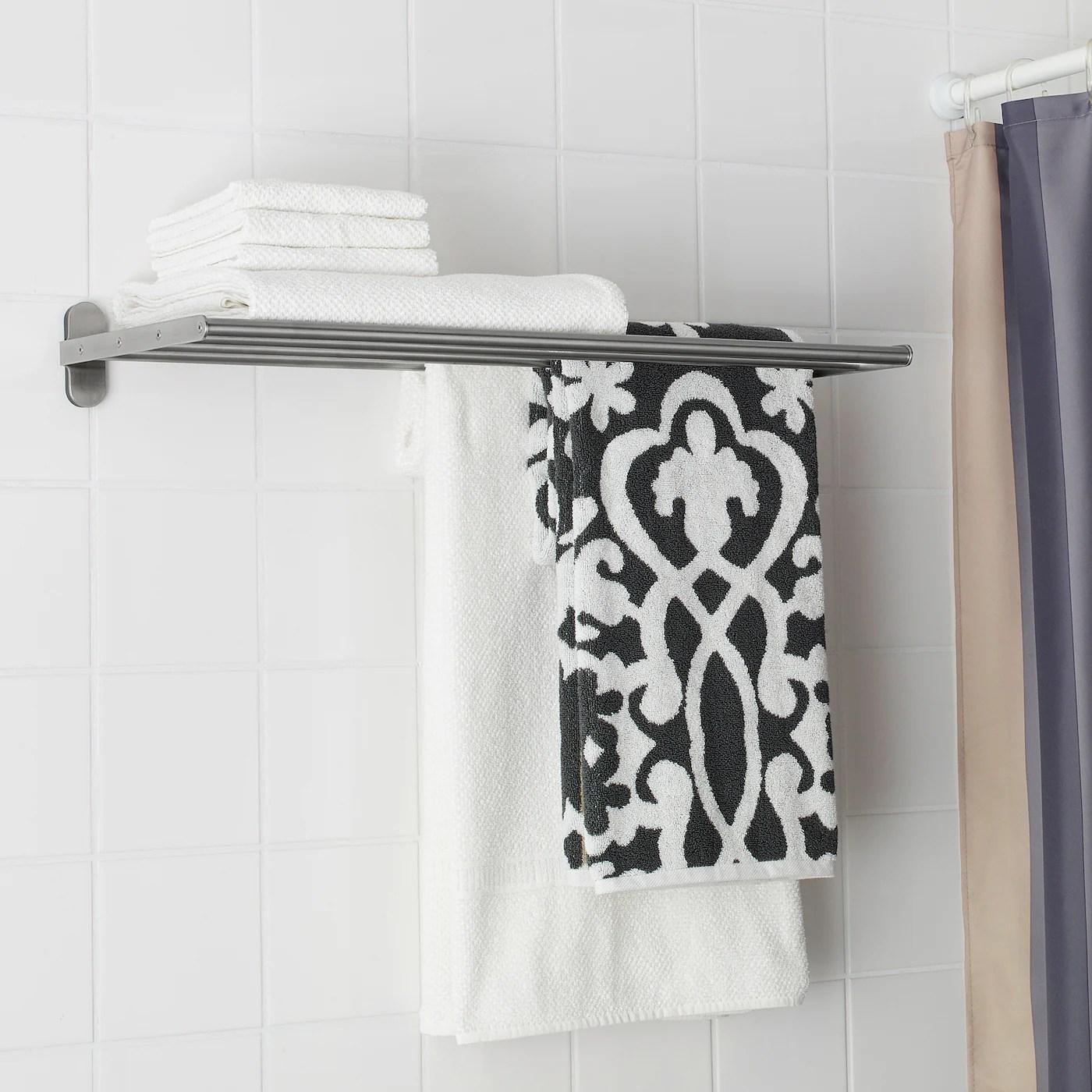 brogrund etagere murale ou porte serviettes acier inoxydable 67x27 cm