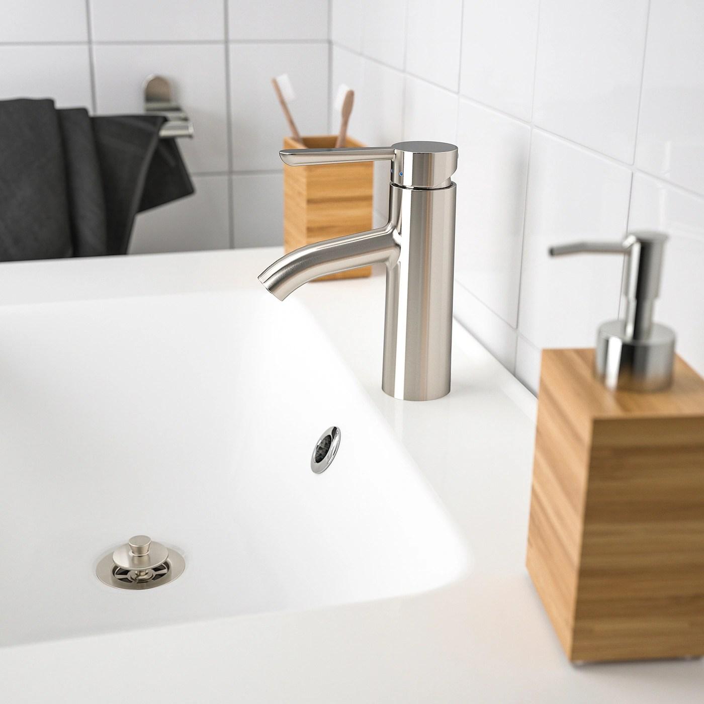 dalskar mitigeur lavabo avec bonde couleur acier inox