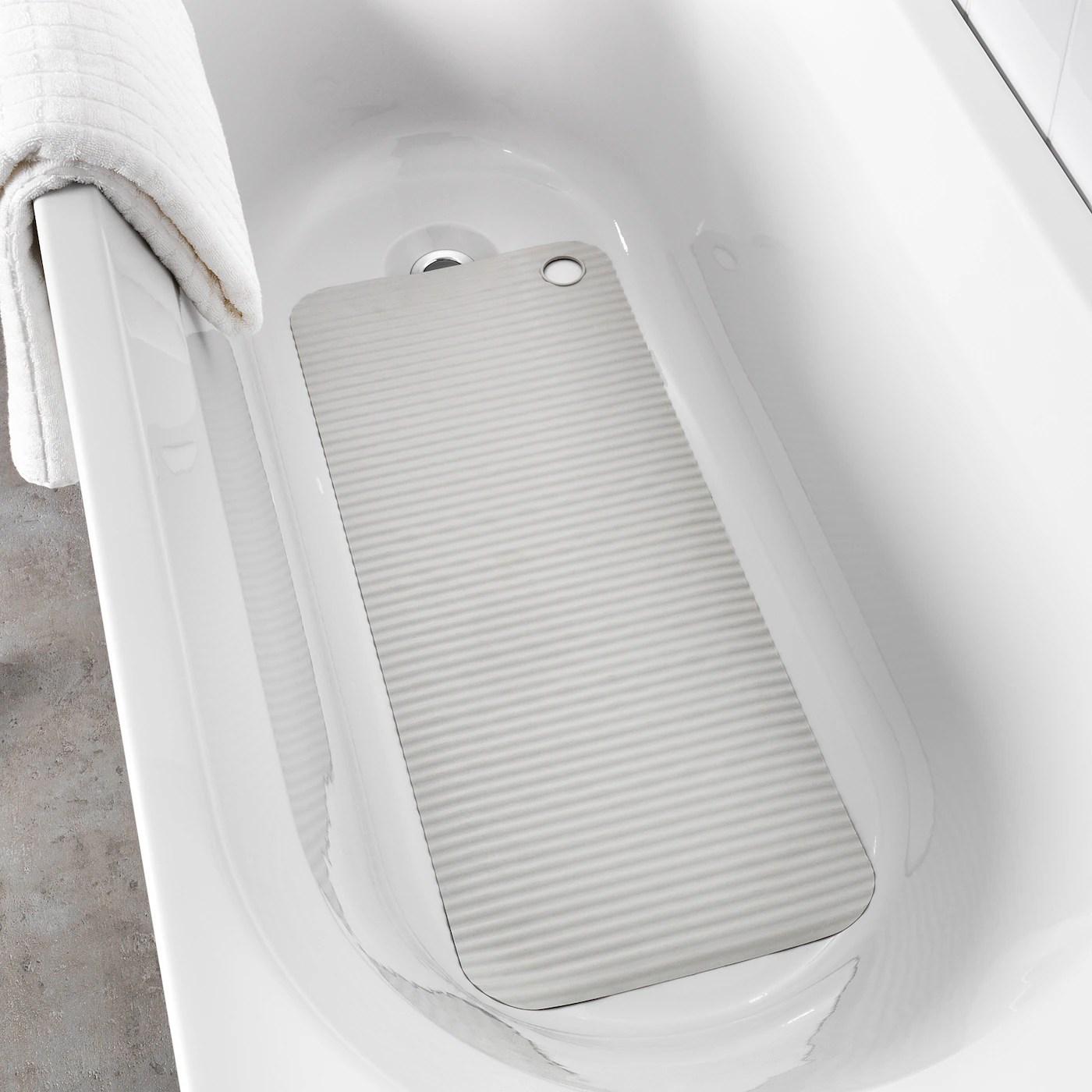 doppa tapis de baignoire gris clair 33x84 cm