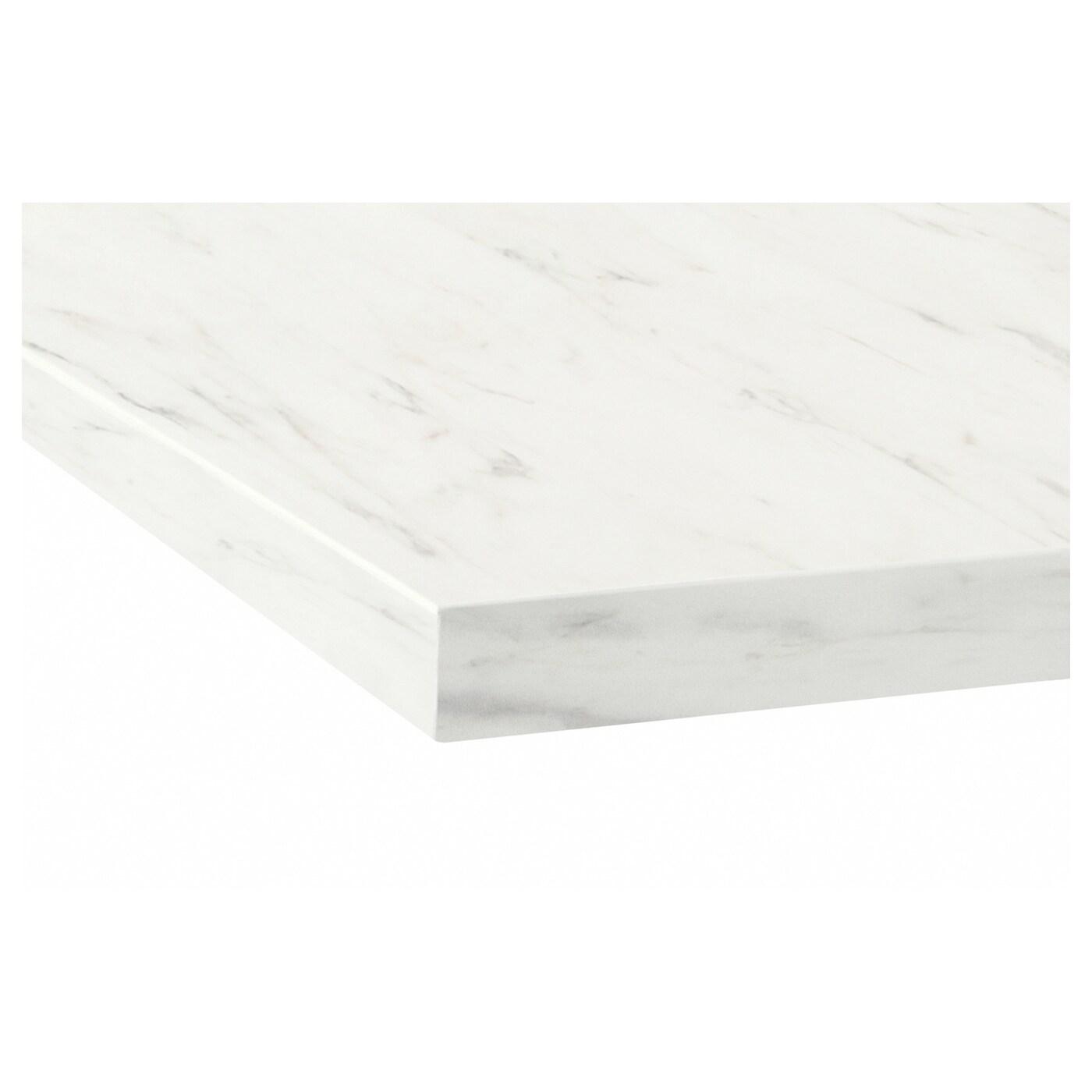 Ekbacken Plan De Travail Sur Mesure Blanc Marbre Stratifie 45 Ikea
