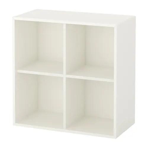 EKET Rangement 4 compartiments  blanc  IKEA