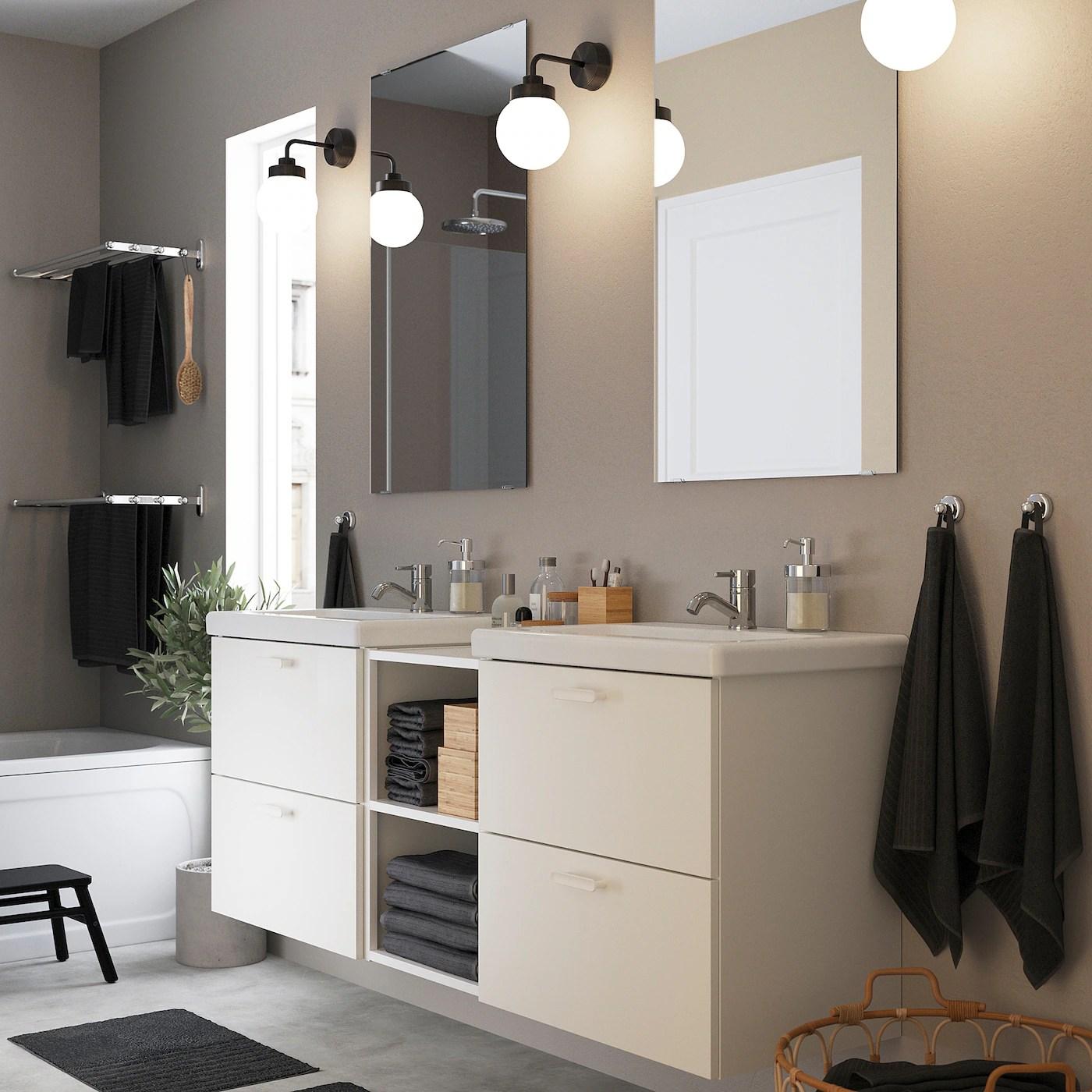 Enhet Tvallen Mobilier Salle De Bain 15 Pieces Blanc Pilkan Mitigeur Lavabo Ikea