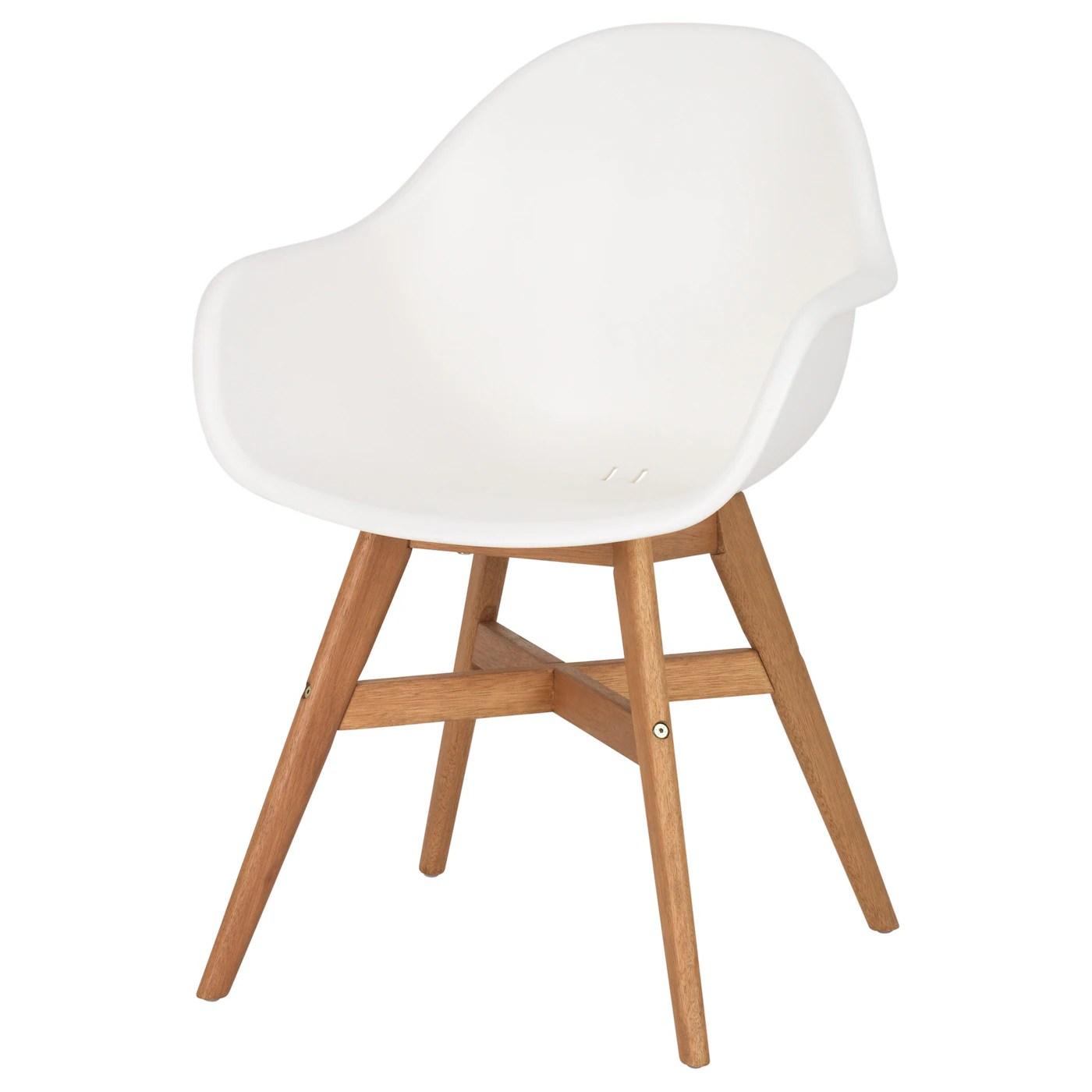 fanbyn chaise a accoudoirs blanc