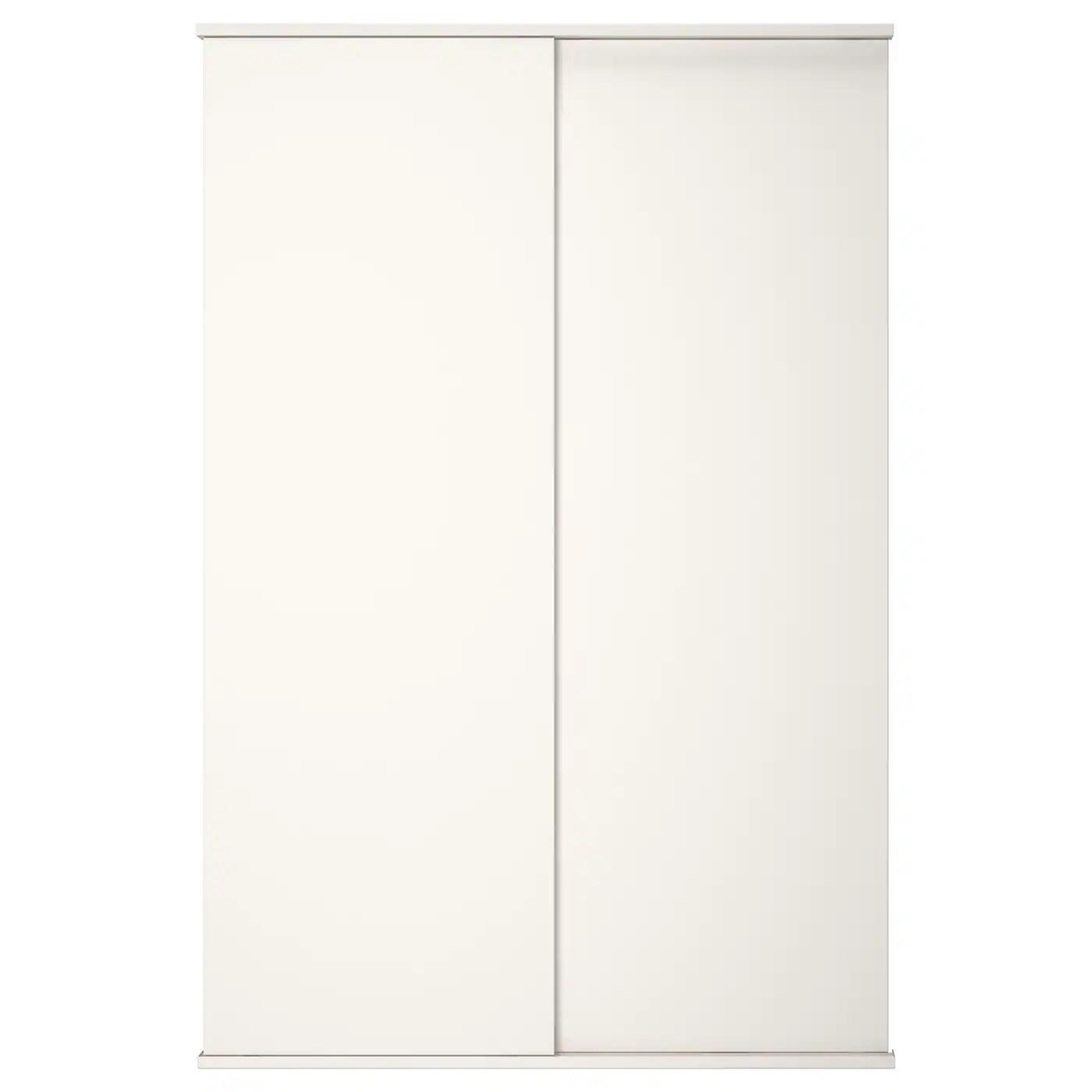 fonnes porte coulissante avec rail blanc 120x180 cm