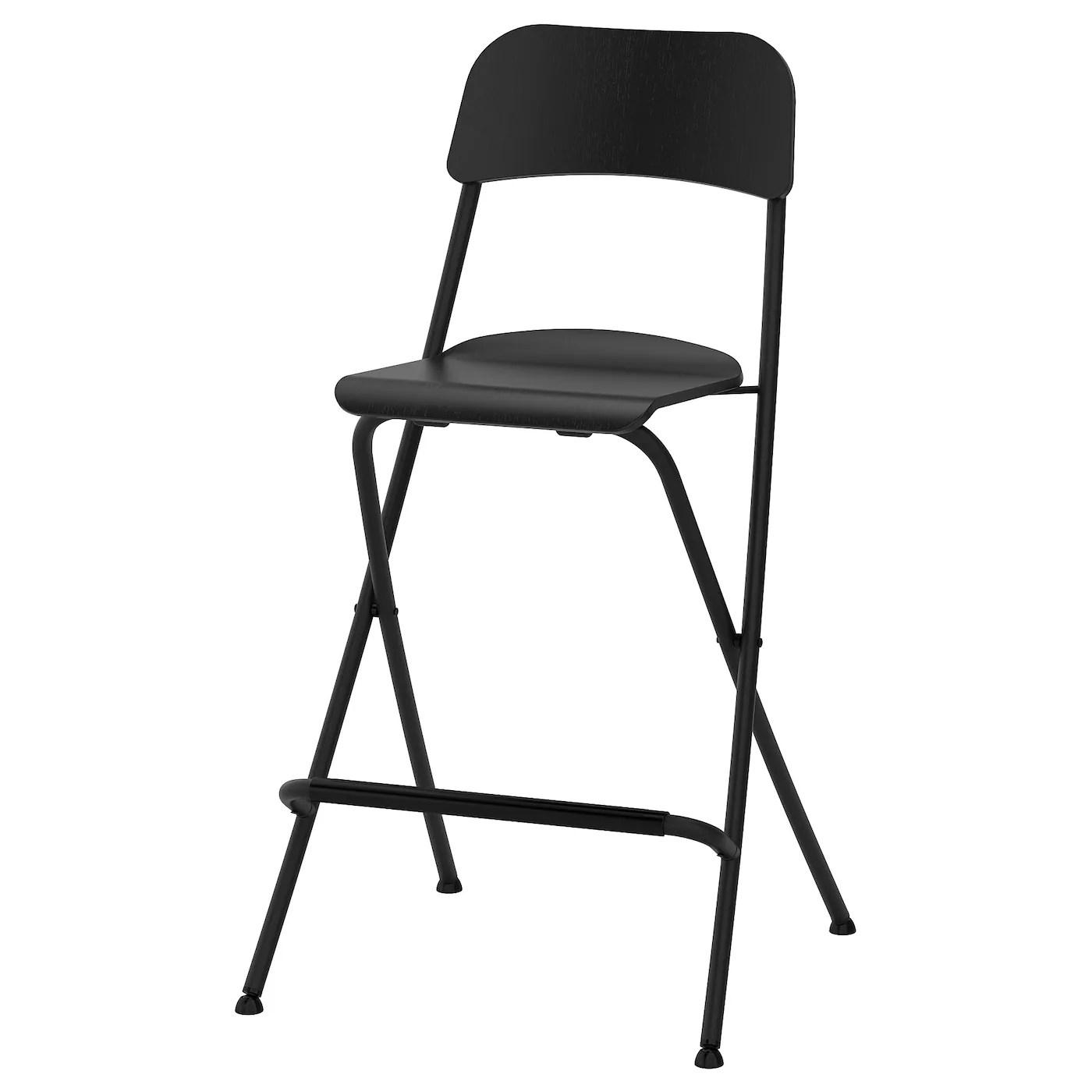 Franklin Chaise De Bar Pliante Noir Noir 63 Cm Ikea