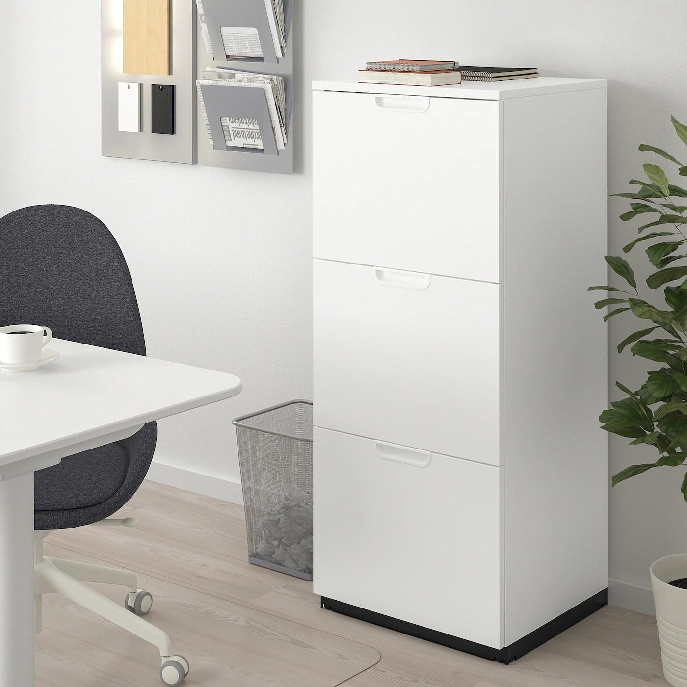 galant armoire a dossiers blanc 51x120 cm
