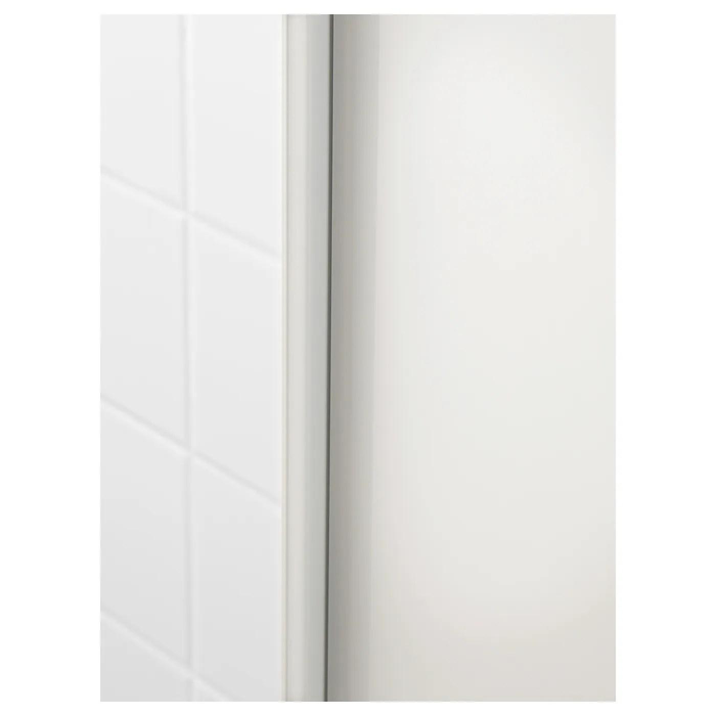 godmorgon colonne brillant blanc 40x32x192 cm
