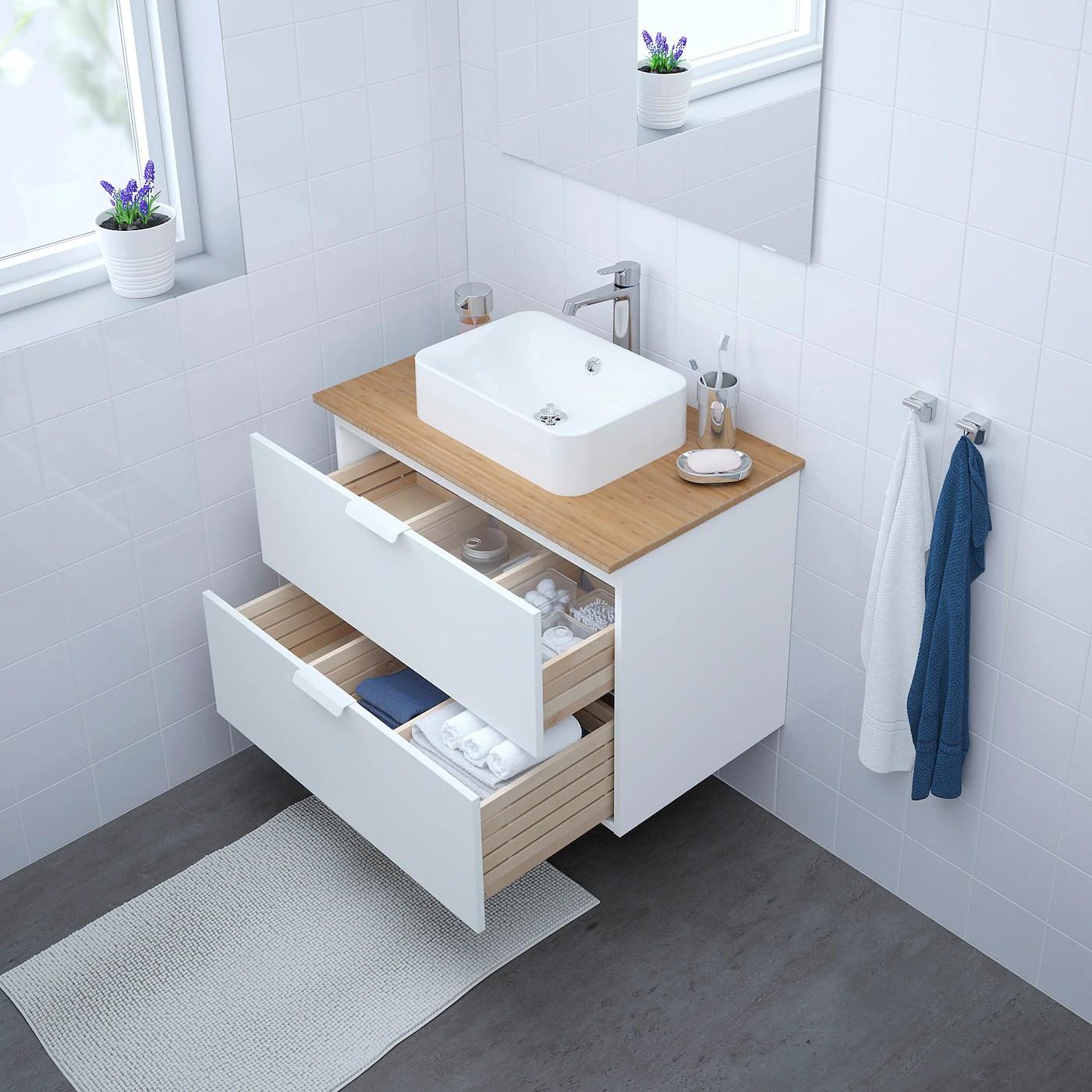 Godmorgon Meuble Lavabo 2tir Blanc 80x47x58 Cm Ikea