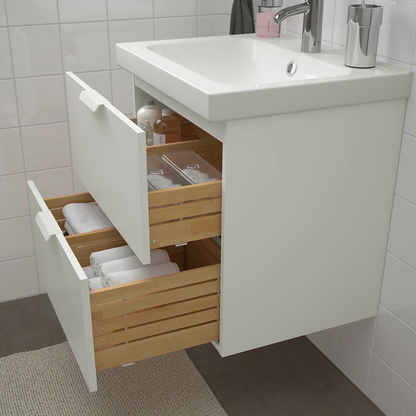 godmorgon odensvik mobilier salle de bain 4 pieces blanc dalskar mitigeur lavabo 63 cm