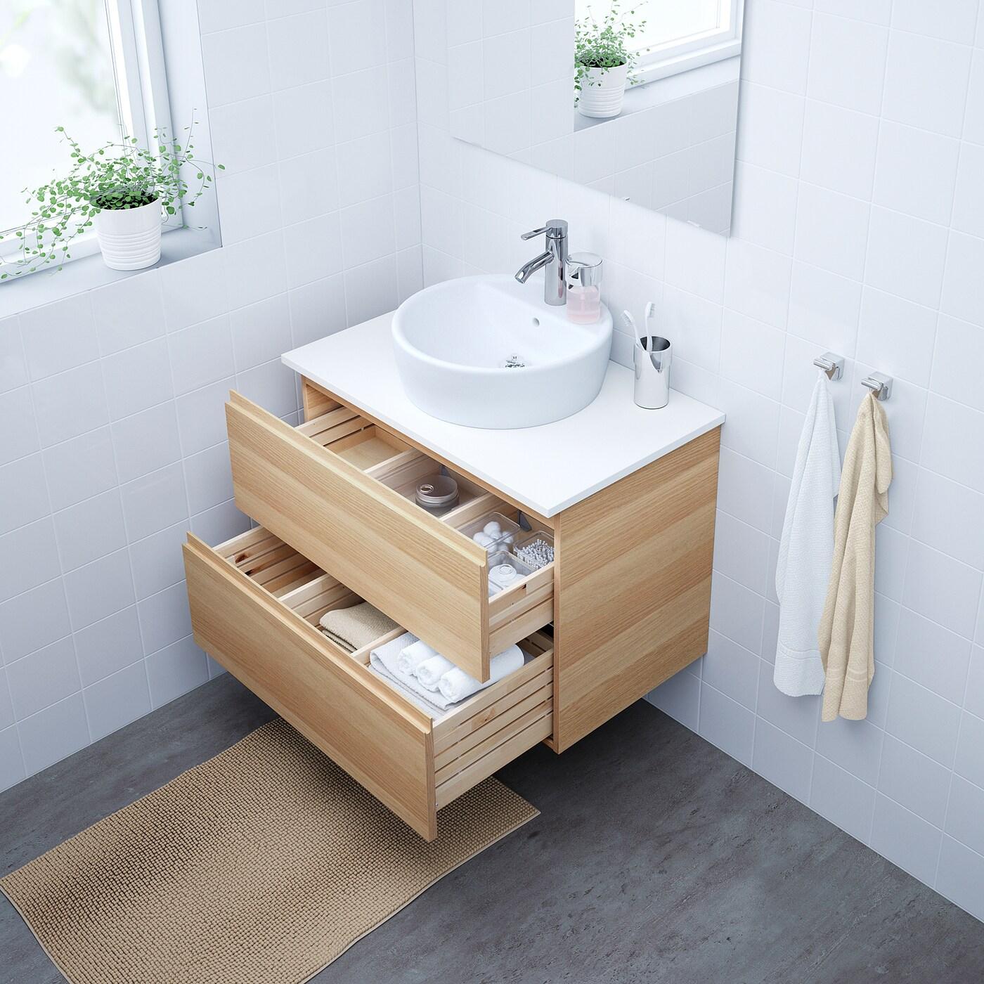 godmorgon tolken tornviken meuble lavabo av lavabo a poser 45 effet chene blanchi blanc dalskar mitigeur lavabo 82x49x74 cm