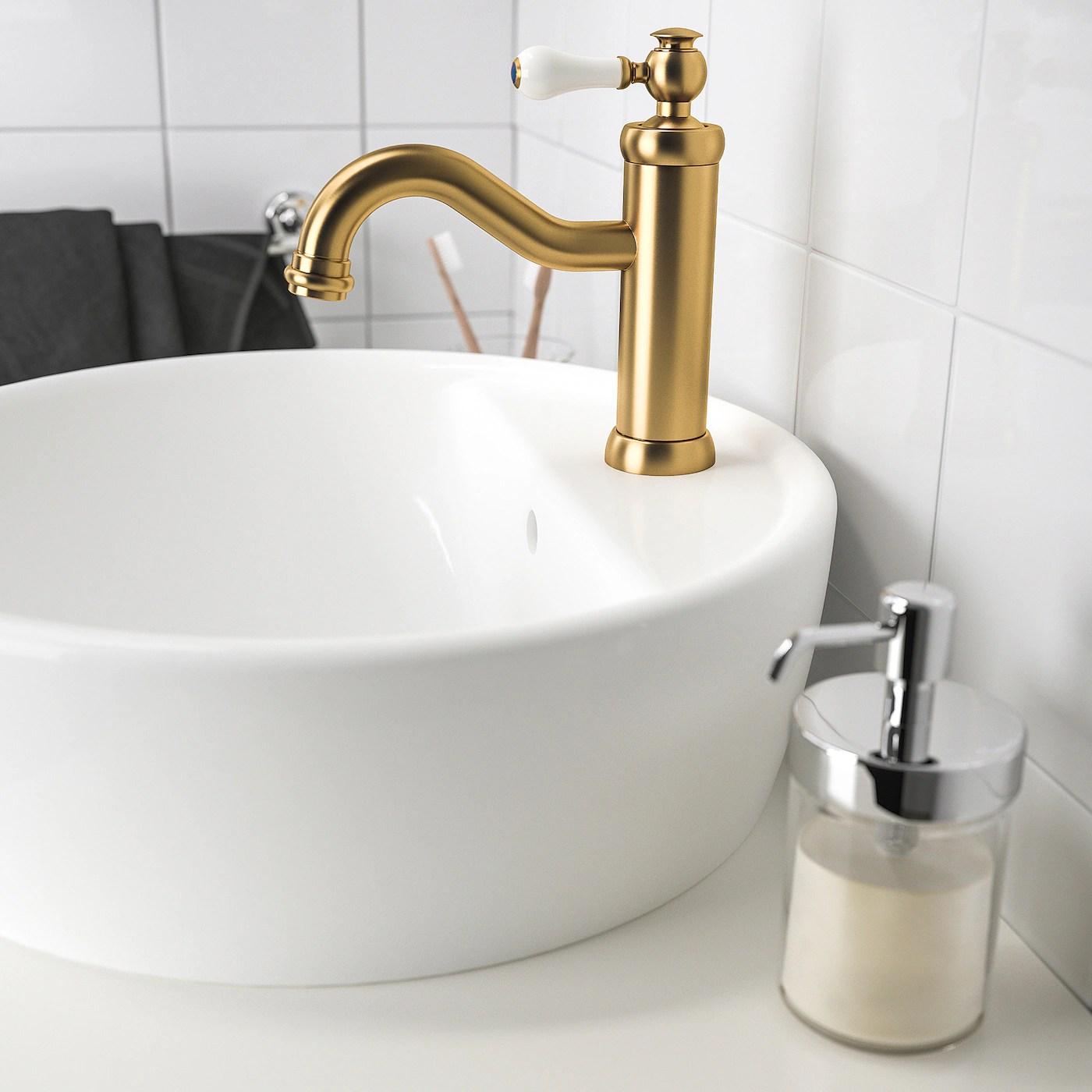 hamnskar mitigeur lavabo avec bonde couleur laiton