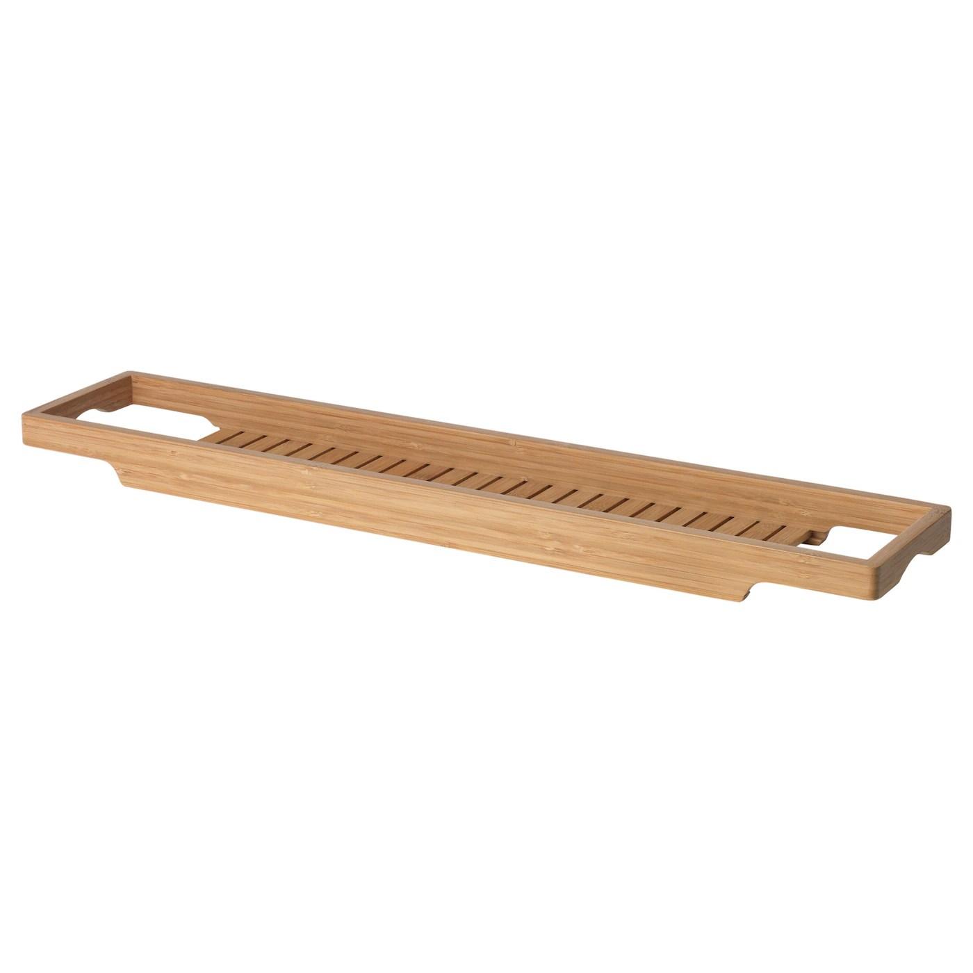 havern etagere baignoire bambou 70 cm