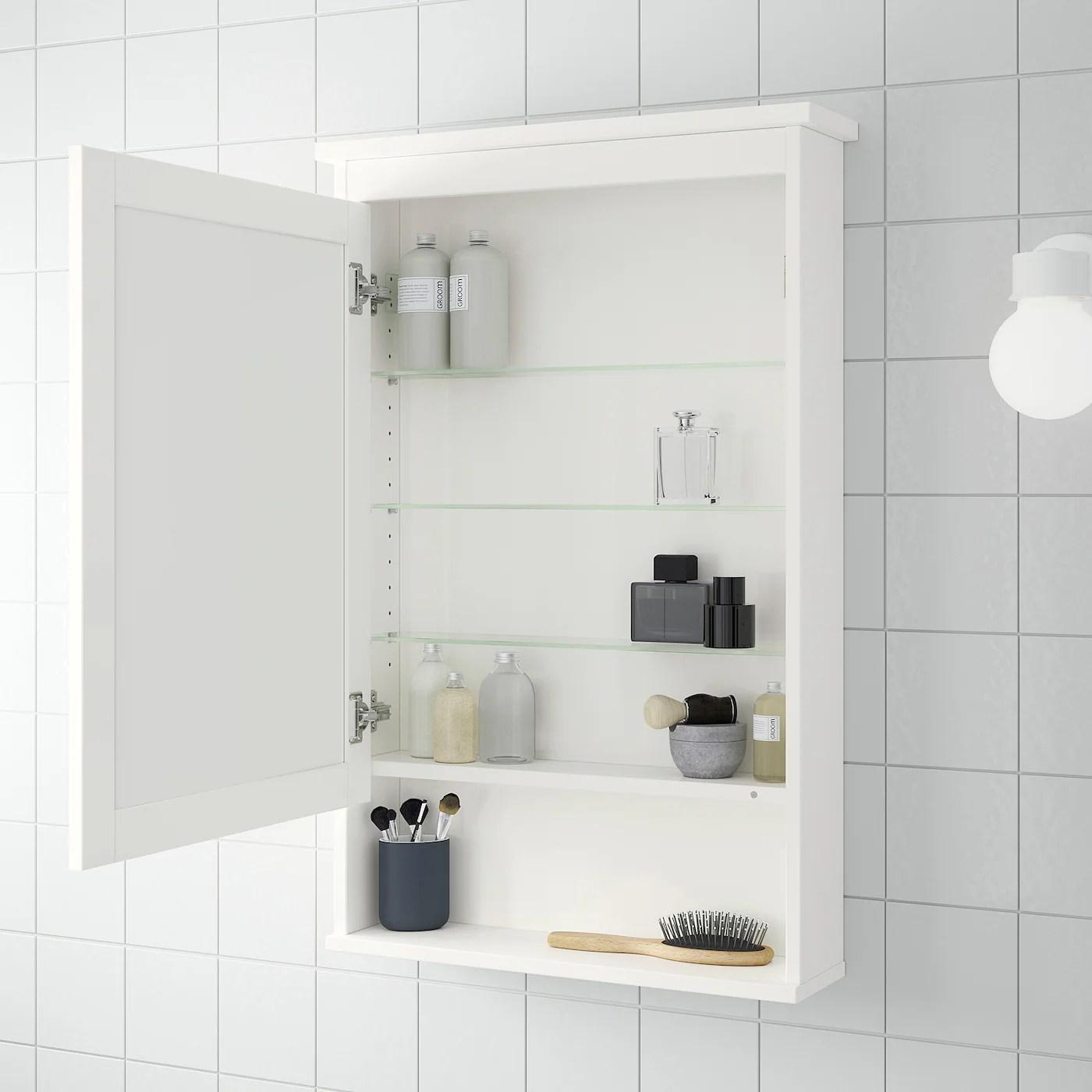 Hemnes Meuble A Miroir 1 Porte Blanc 63x16x98 Cm Ikea