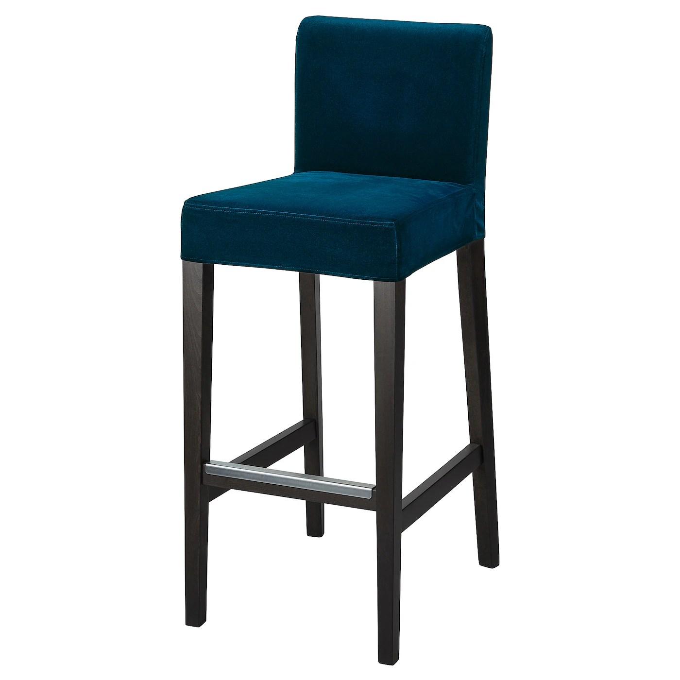 henriksdal housse pour chaise de bar djuparp vert bleu fonce