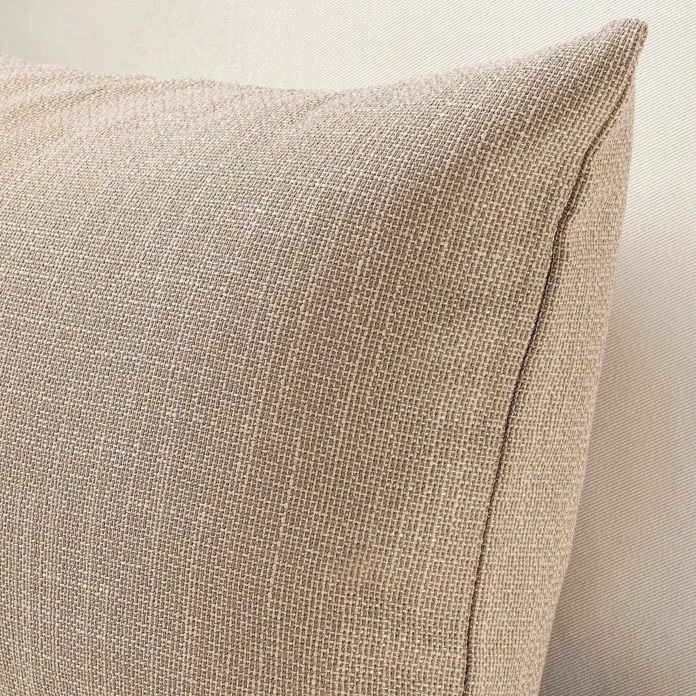 hillared housse de coussin beige 40x65 cm