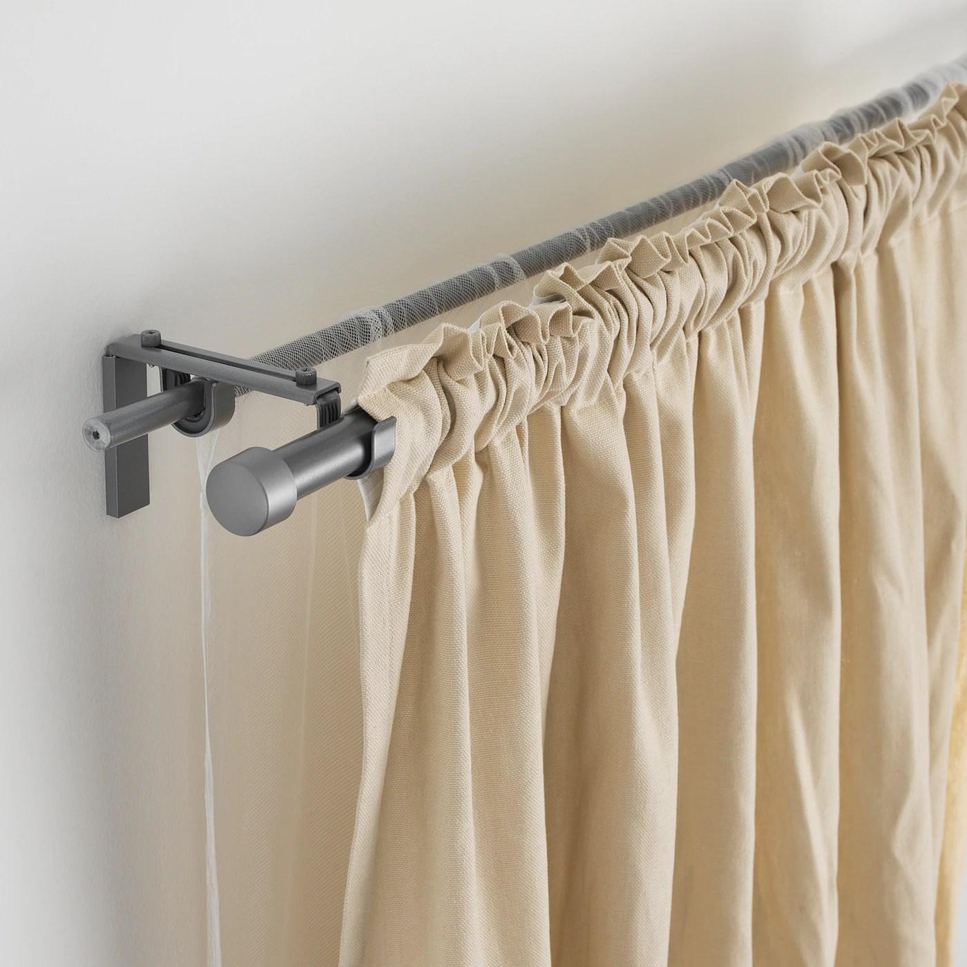 hugad tringle a rideau couleur argent 120 210 cm