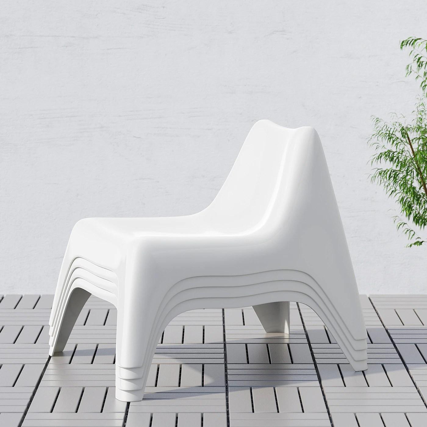 ikea ps vago fauteuil exterieur blanc