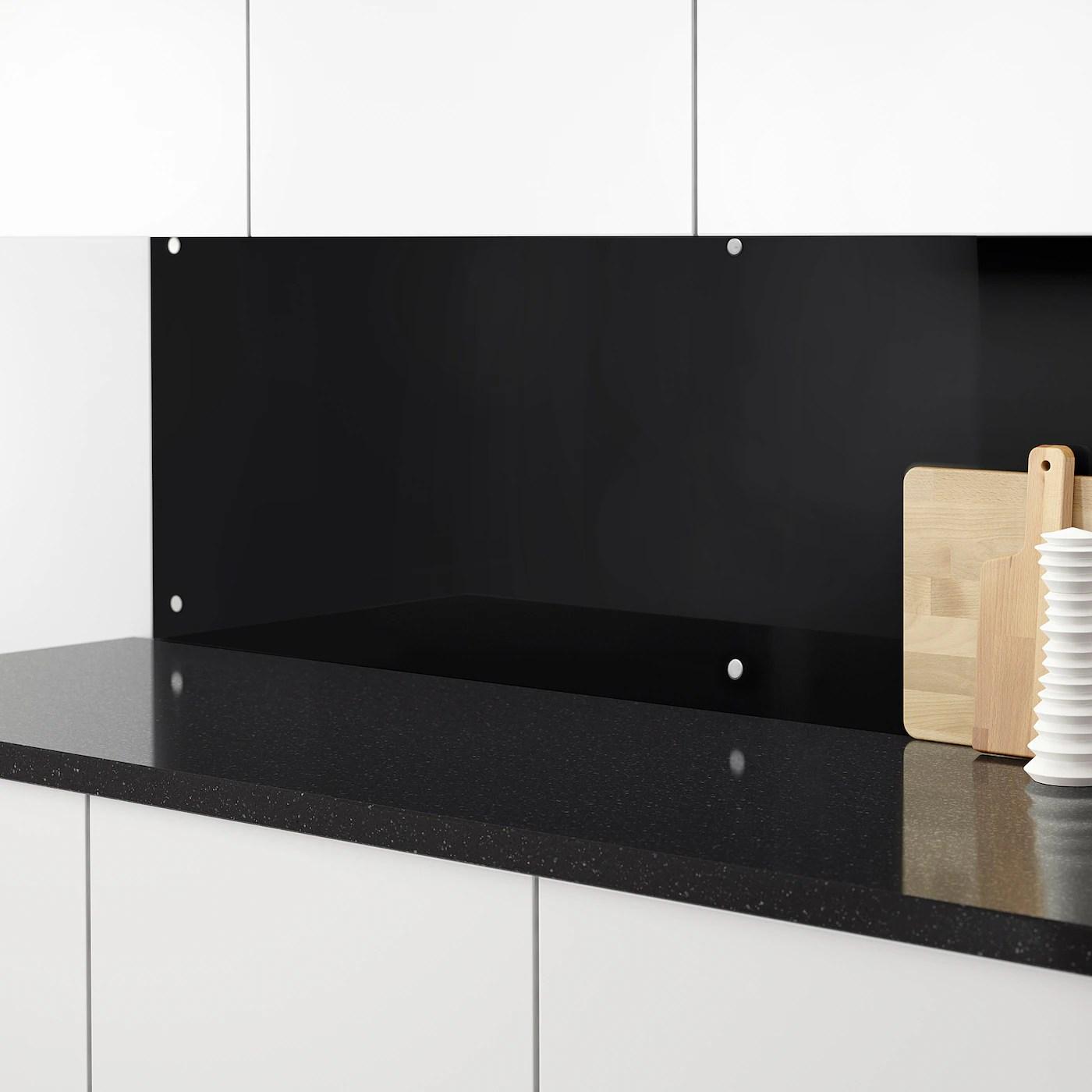 Ishult Revetement Mural Sur Mesure Noir Verre Ikea
